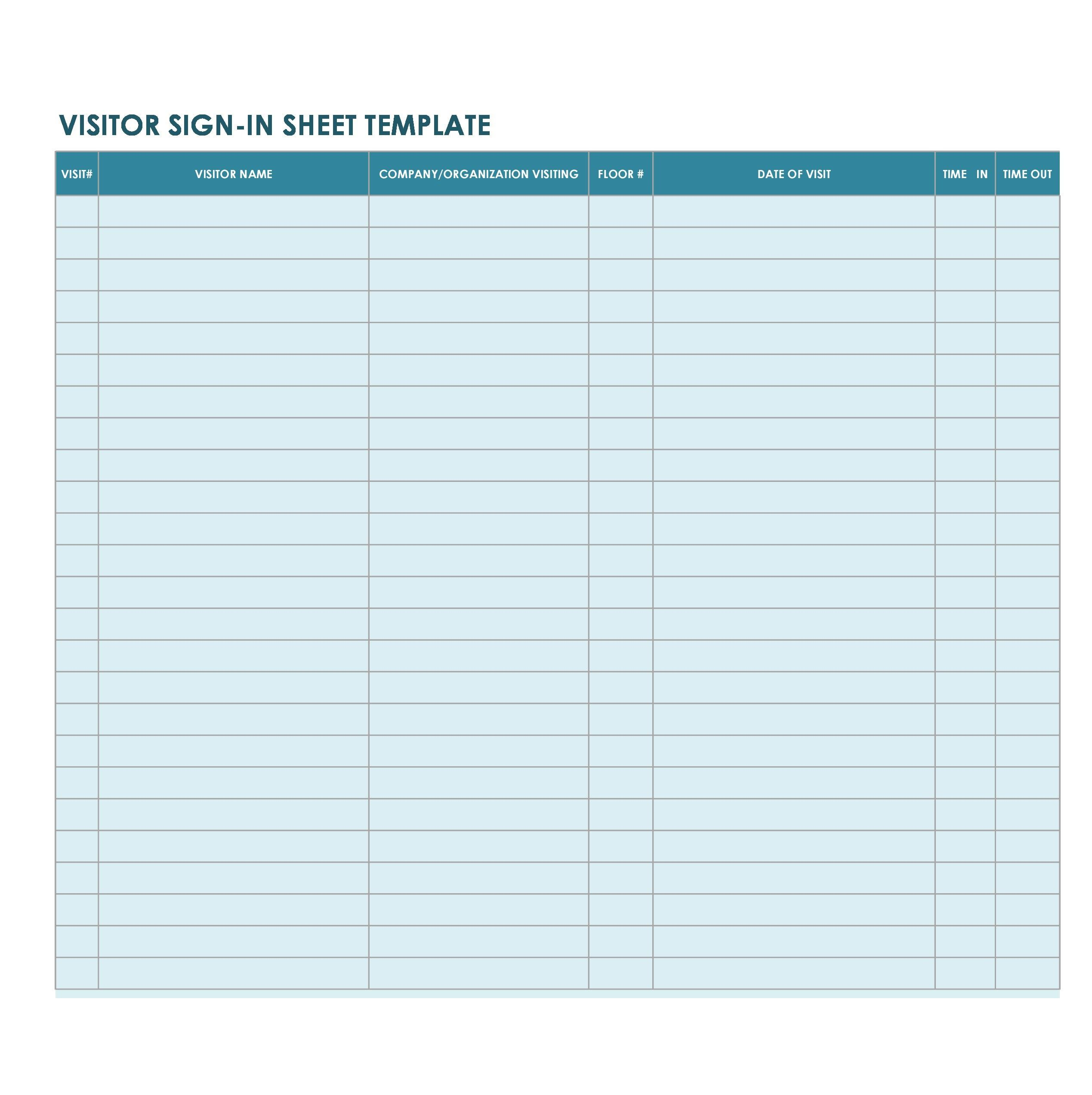008 Rare Visitor Sign In Sheet Template Pdf Design Full