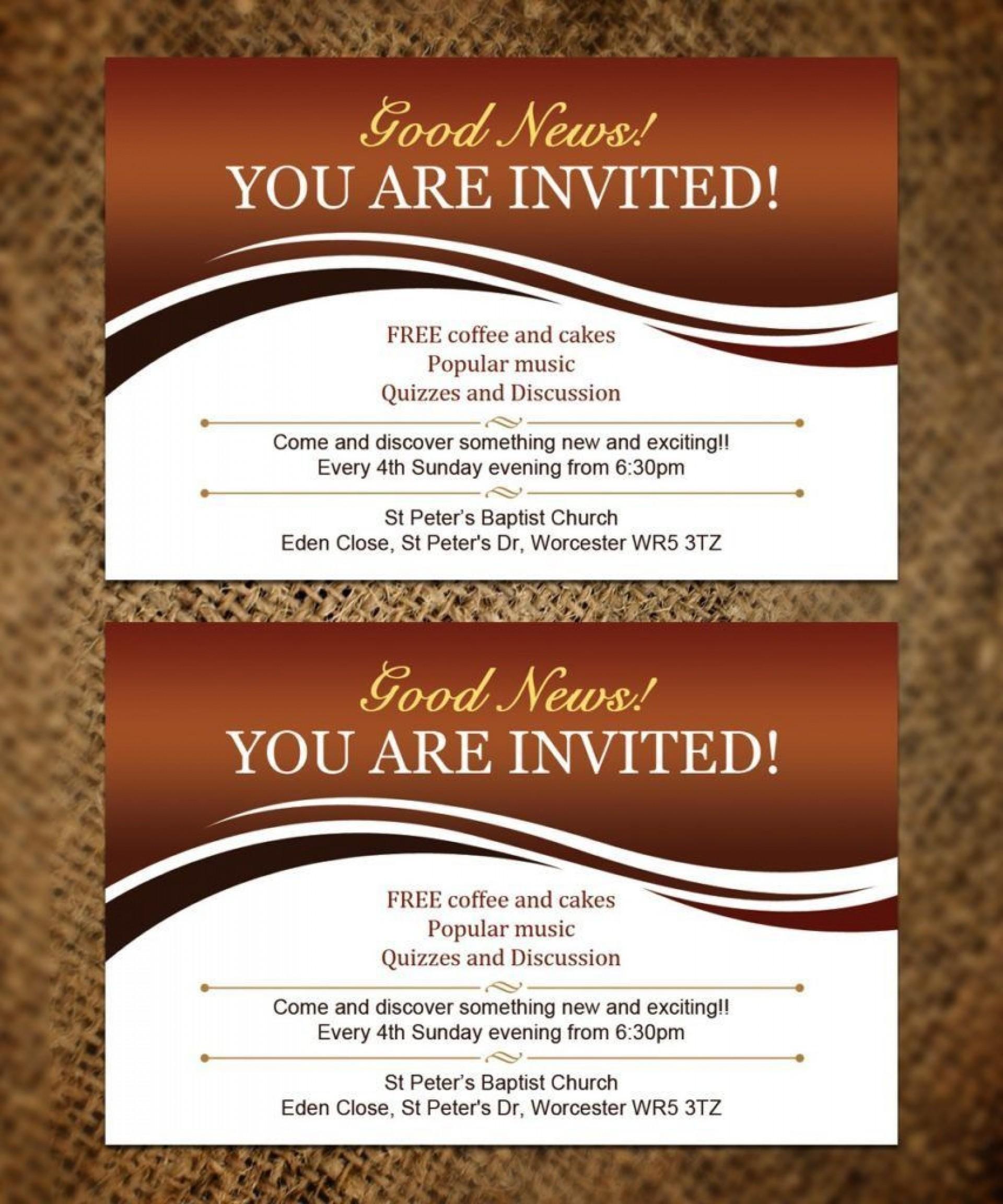 Church Invitation Card Templates ~ Addictionary
