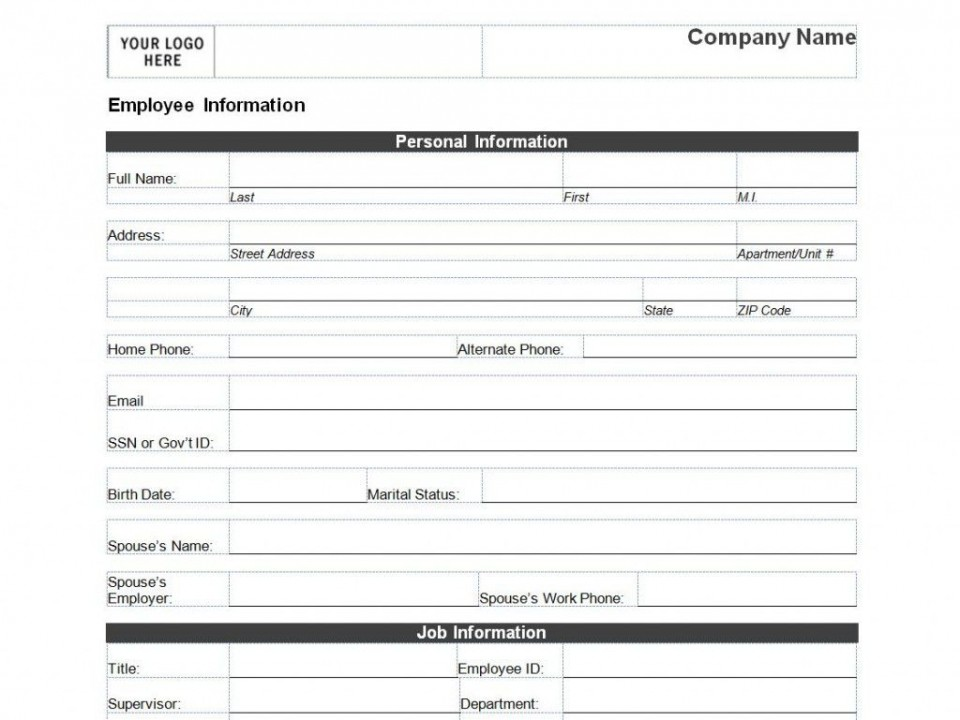 008 Remarkable Client Information Form Template Excel Design 960