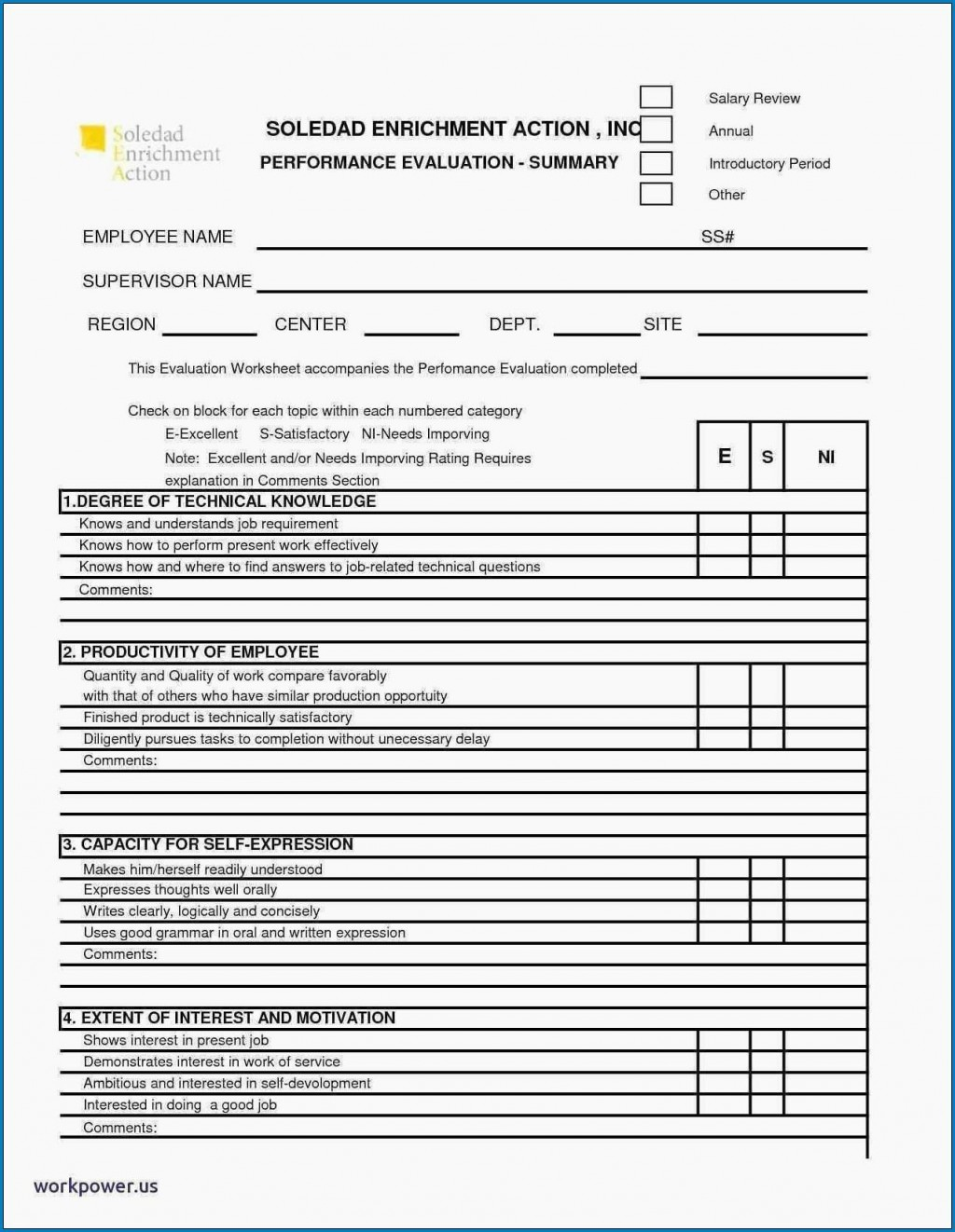 008 Remarkable Employee Performance Review Template Word Image  Microsoft DocumentLarge