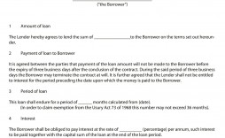 008 Remarkable Family Loan Agreement Template Canada High Resolution