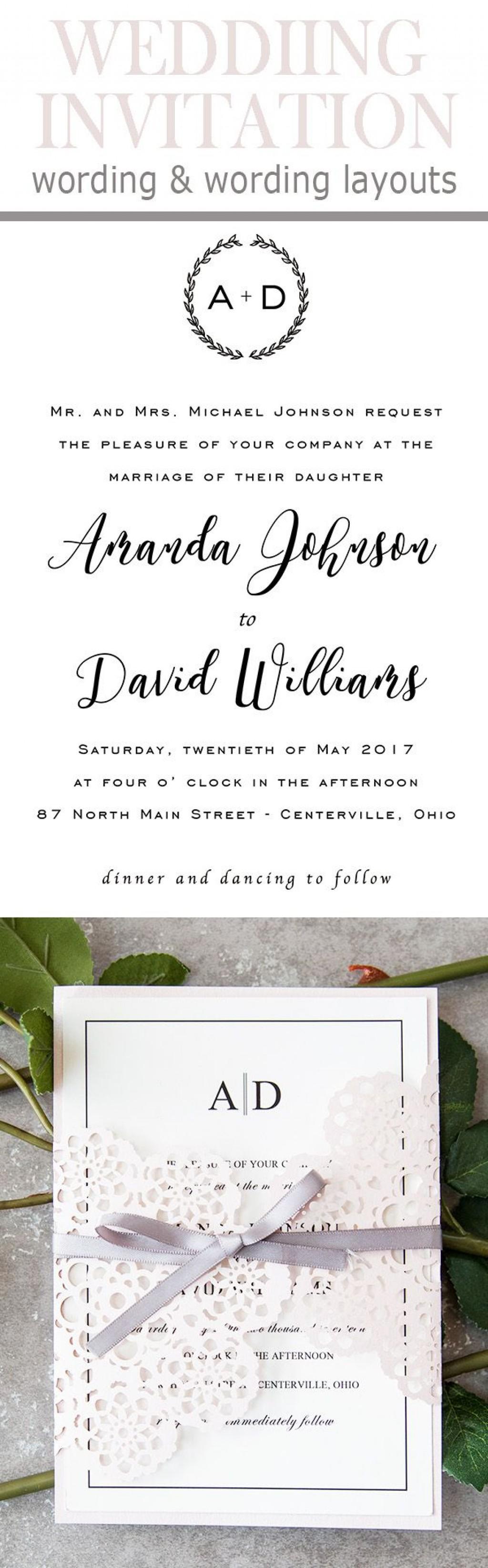 008 Remarkable Formal Wedding Invitation Wording Template Inspiration  TemplatesLarge