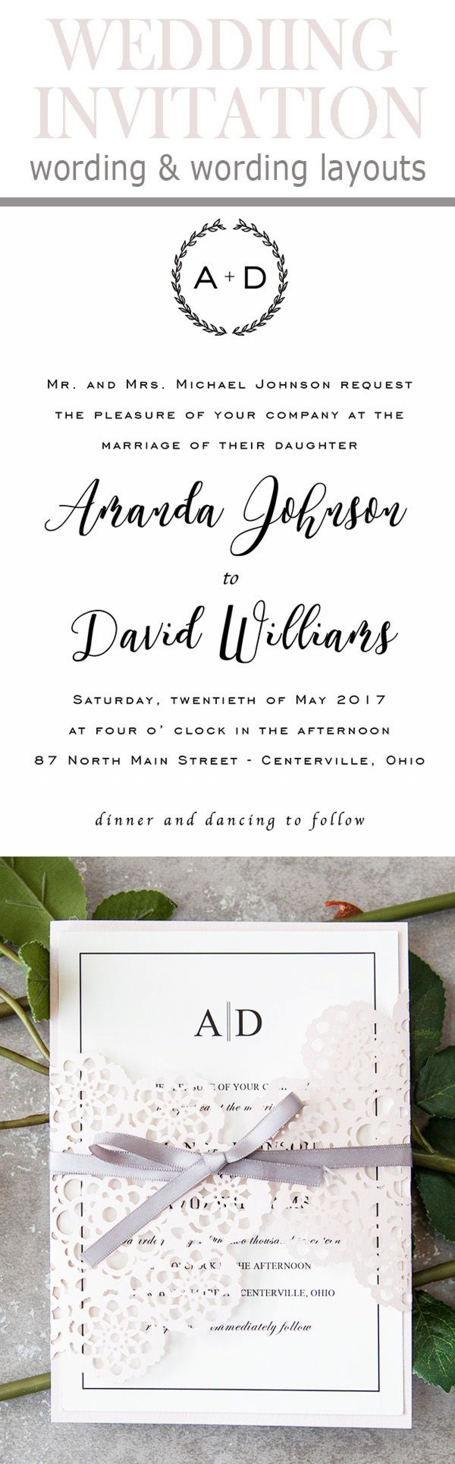 008 Remarkable Formal Wedding Invitation Wording Template Inspiration  Templates1920