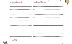 008 Remarkable Free Make Your Own Cookbook Template Download Photo  Downloads