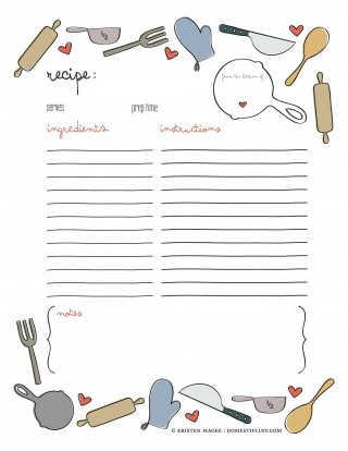 008 Remarkable Free Make Your Own Cookbook Template Download Photo 320