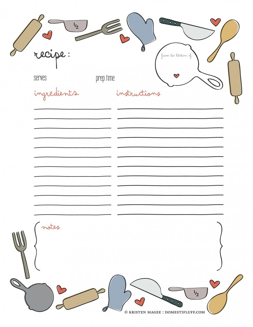 008 Remarkable Free Make Your Own Cookbook Template Download Photo 868