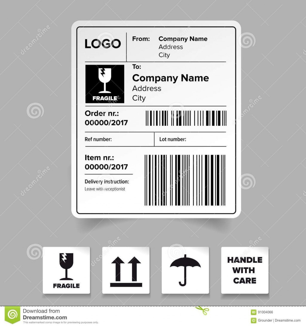 008 Remarkable Free Shipping Label Template Idea  Format Word For MacLarge