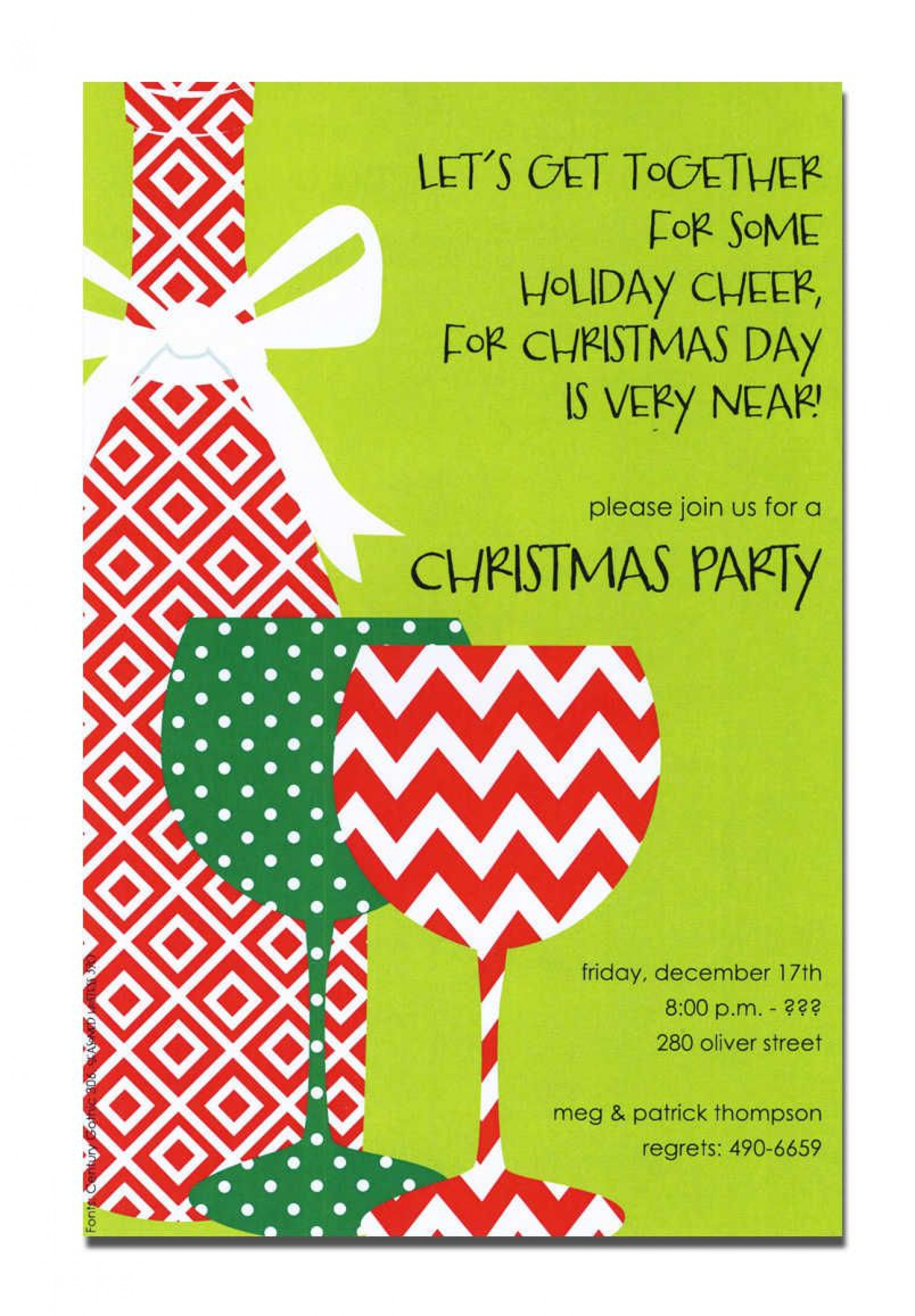 008 Remarkable Holiday Open House Invitation Template Sample  Christma Free Printable Wording Idea1920