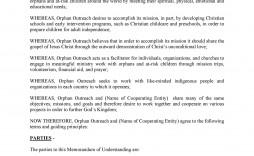 008 Remarkable Letter Of Understanding Sample Format High Def