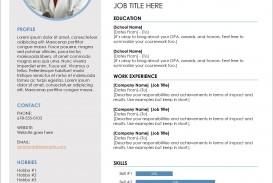 008 Remarkable Microsoft Word Template Download Sample  Cv Free Portfolio