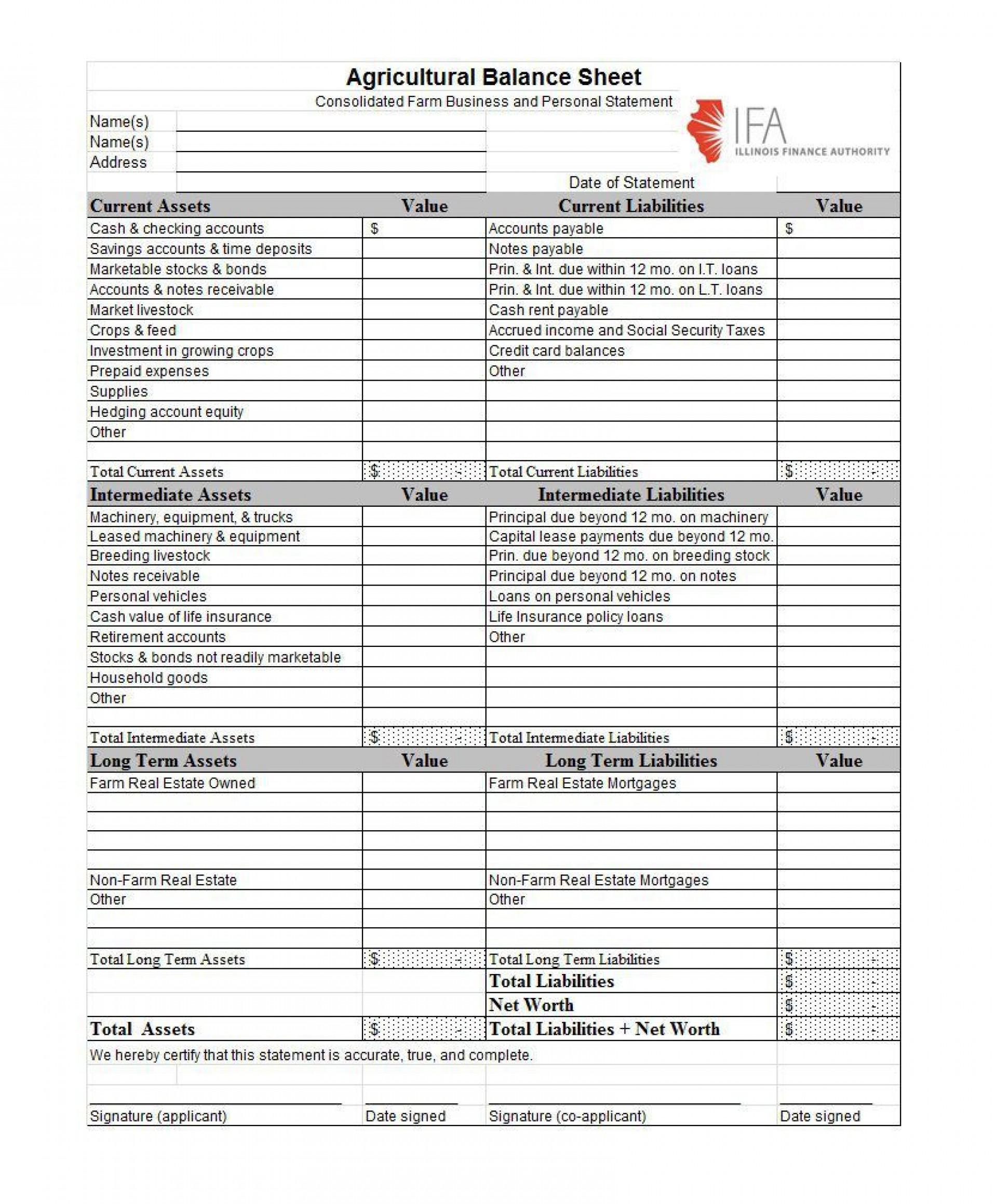 Non Profit Balance Sheet Template Addictionary