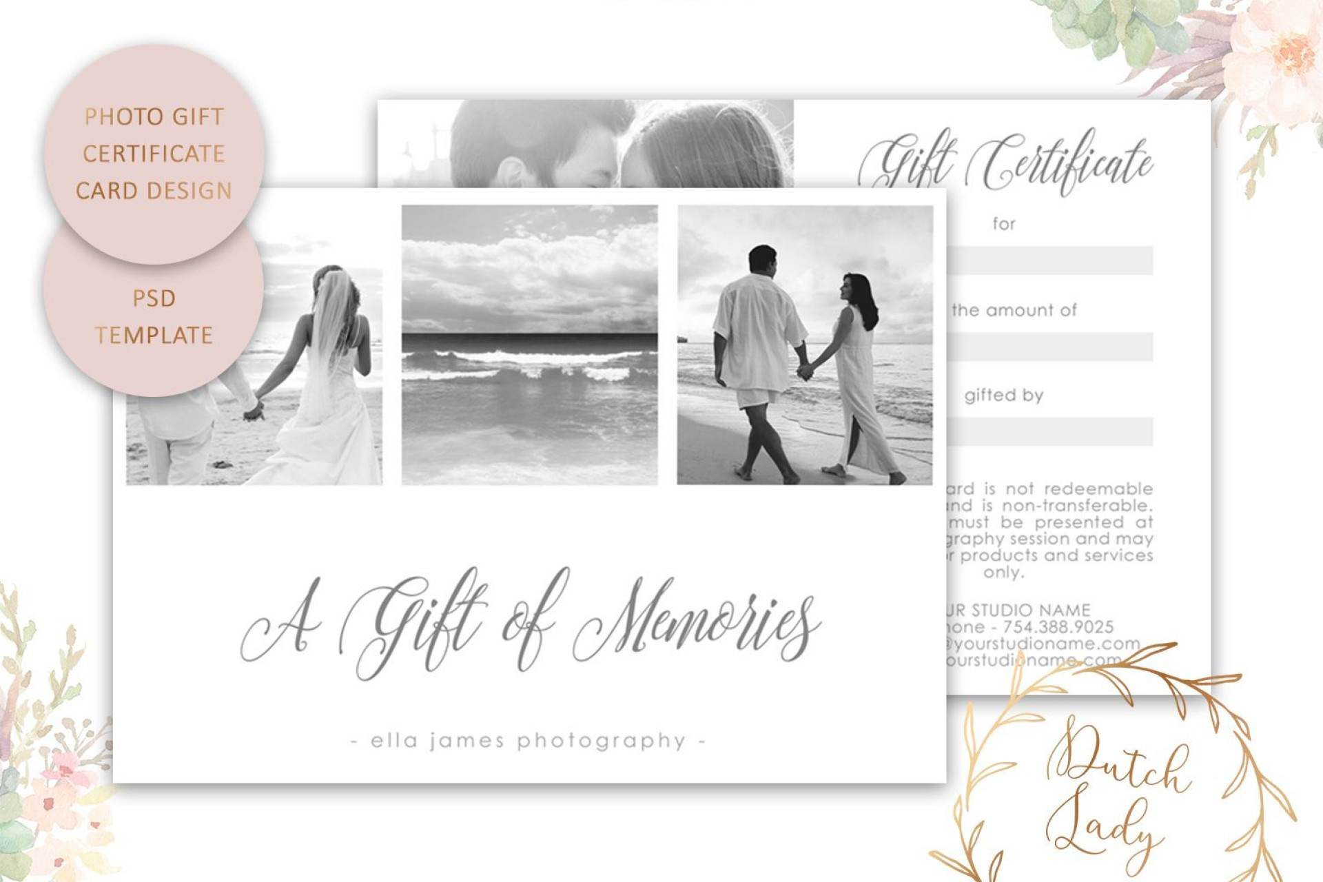 008 Remarkable Photography Session Gift Certificate Template Highest Quality  Photo Free1920