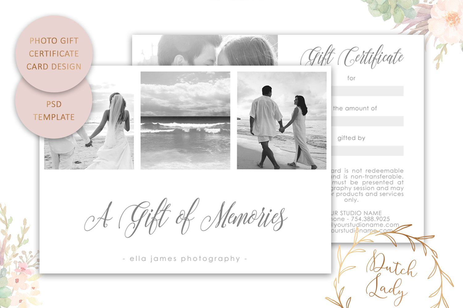 008 Remarkable Photography Session Gift Certificate Template Highest Quality  Photo FreeFull