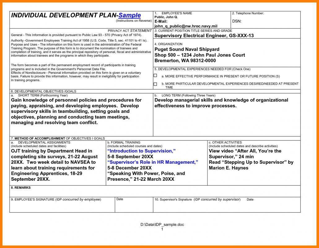 008 Remarkable Professional Development Plan For Teacher Template Doc Idea Full