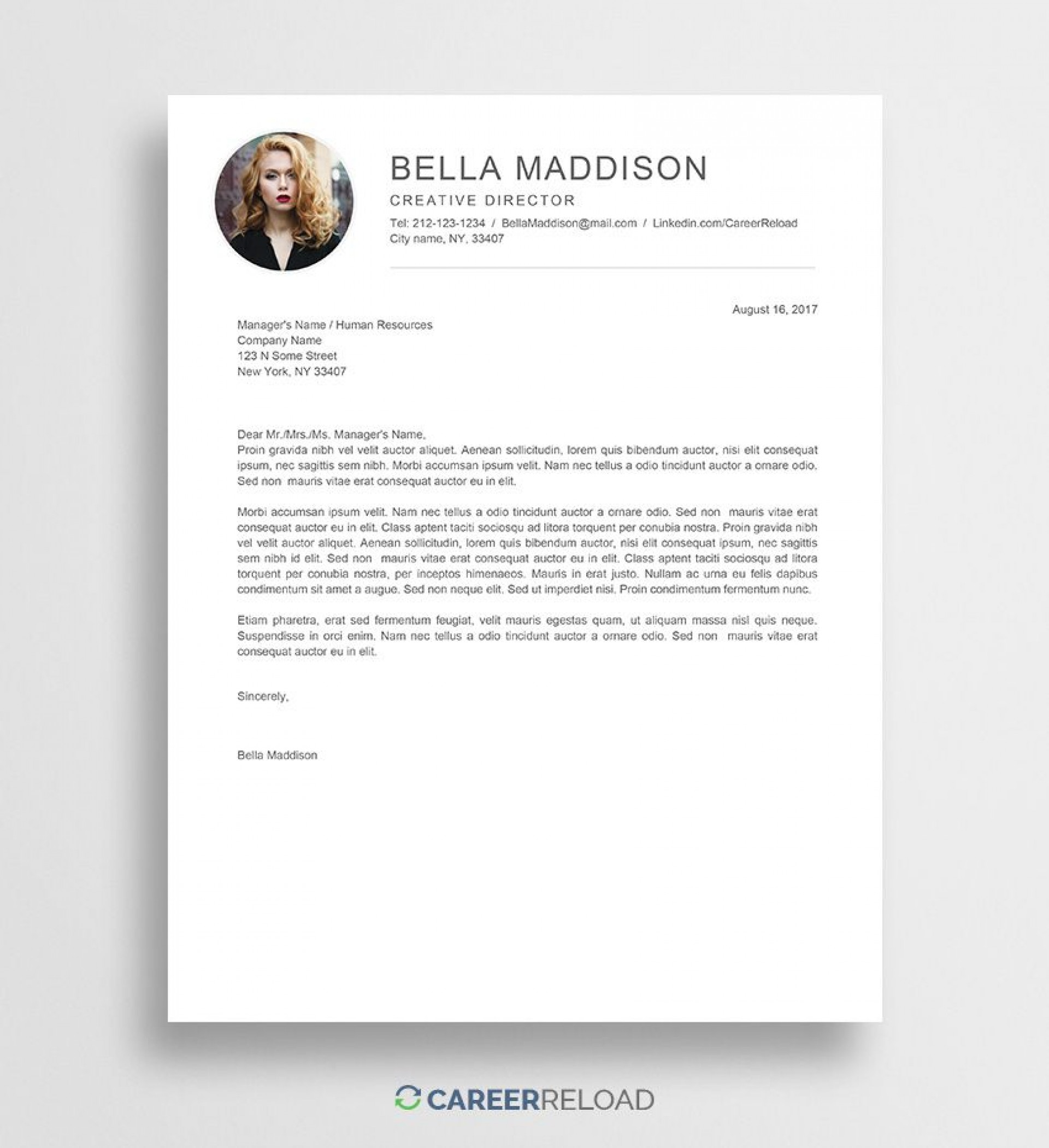 008 Remarkable Resume Cover Letter Template Word Free Inspiration 1920