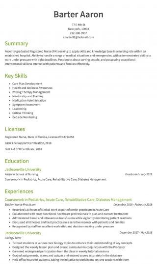 008 Remarkable Rn Graduate Resume Template High Resolution  New Grad Nurse320