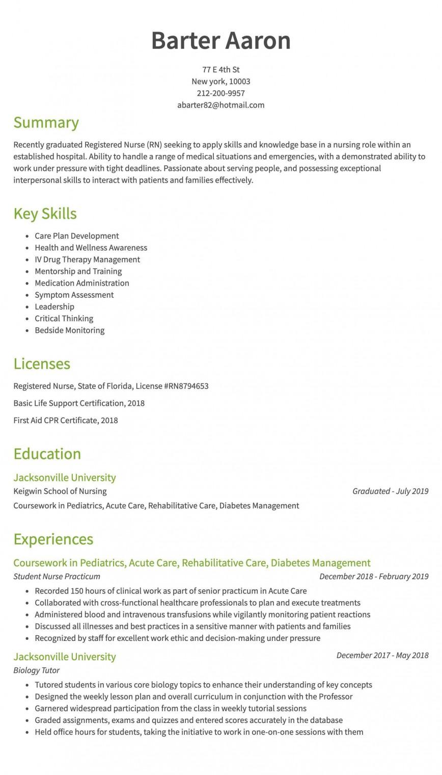 008 Remarkable Rn Graduate Resume Template High Resolution  New Grad Nurse868