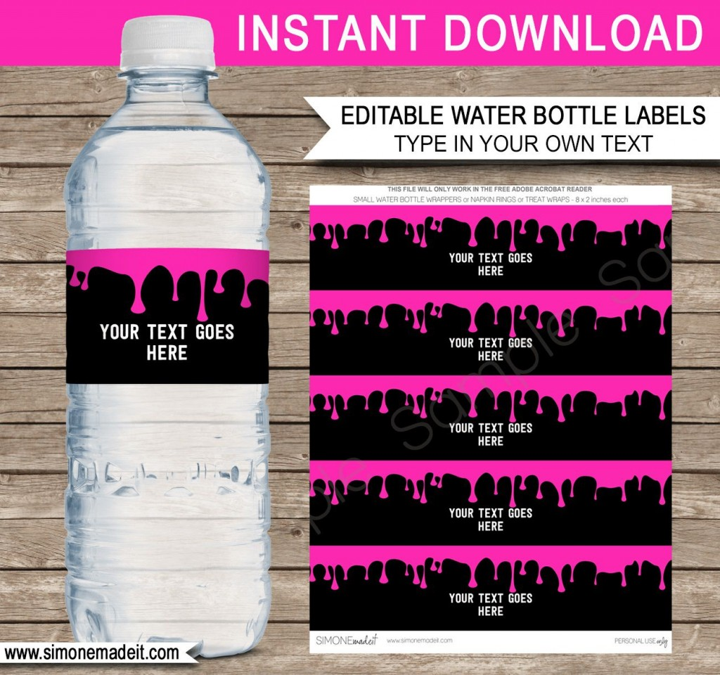 008 Remarkable Water Bottle Label Template Image  Free Photoshop Baby Shower PsdLarge
