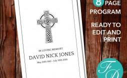 008 Sensational Catholic Funeral Program Template Highest Clarity  Mas Layout Free