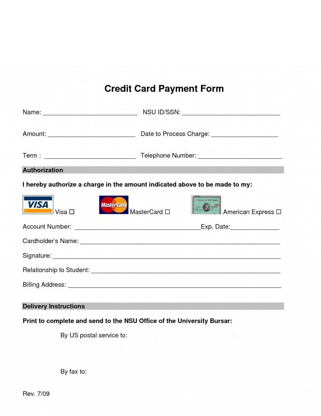 008 Sensational Credit Card Template Word High Definition  Authorization Hotel Form SlipLarge