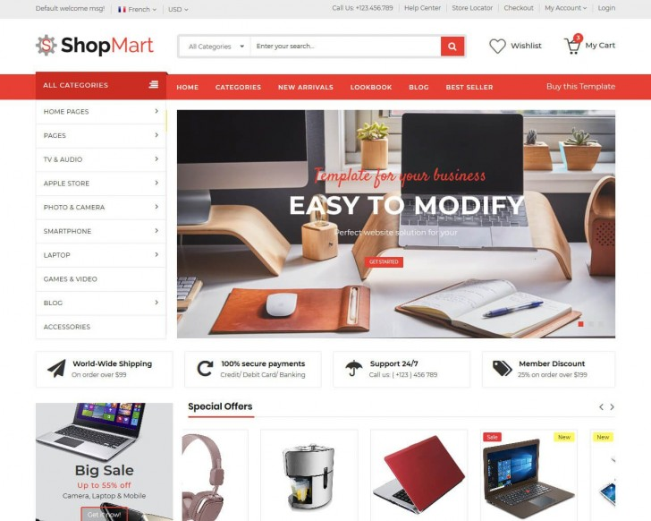 008 Sensational Ecommerce Website Template Html Free Download Photo  Bootstrap 4 Responsive With Cs Jquery728
