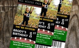 008 Sensational Football Ticket Invitation Template Free Sample  Printable Party Download