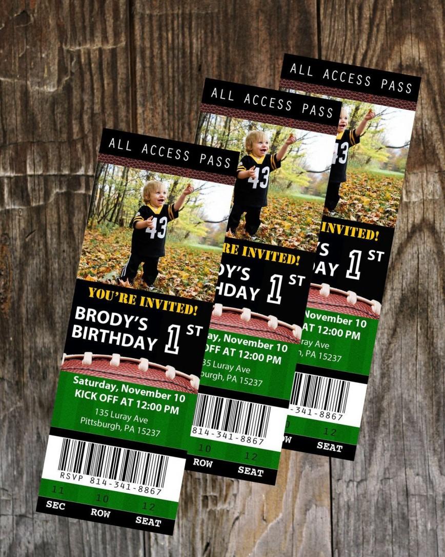 Football Ticket Invitation Template Free ~ Addictionary