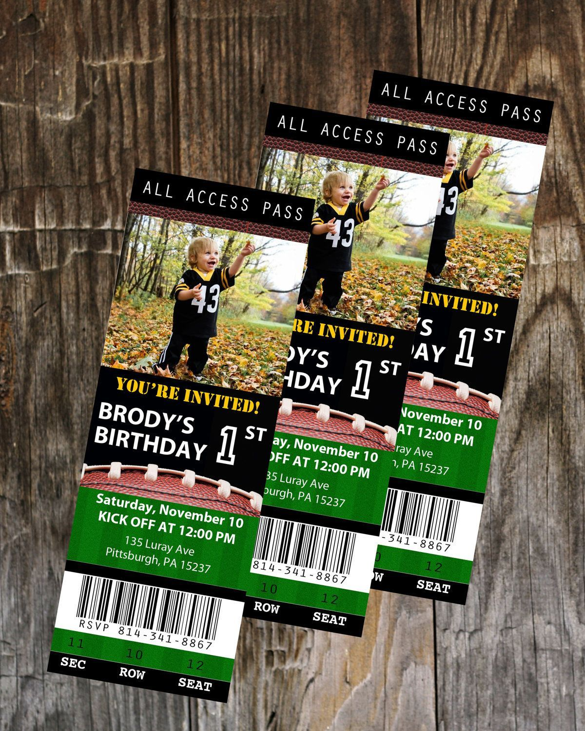 008 Sensational Football Ticket Invitation Template Free Sample  Printable Party DownloadFull