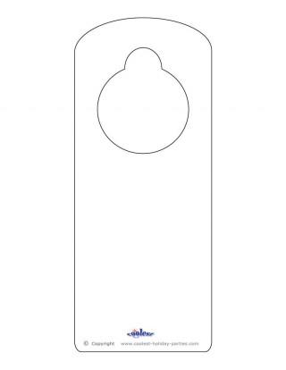 008 Sensational Free Download Door Hanger Template Picture 320