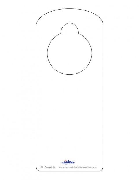 008 Sensational Free Download Door Hanger Template Picture 480