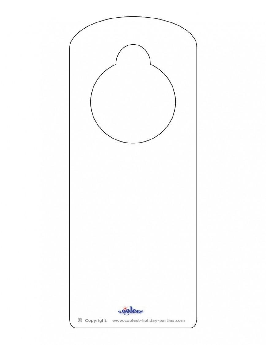 008 Sensational Free Download Door Hanger Template Picture 868