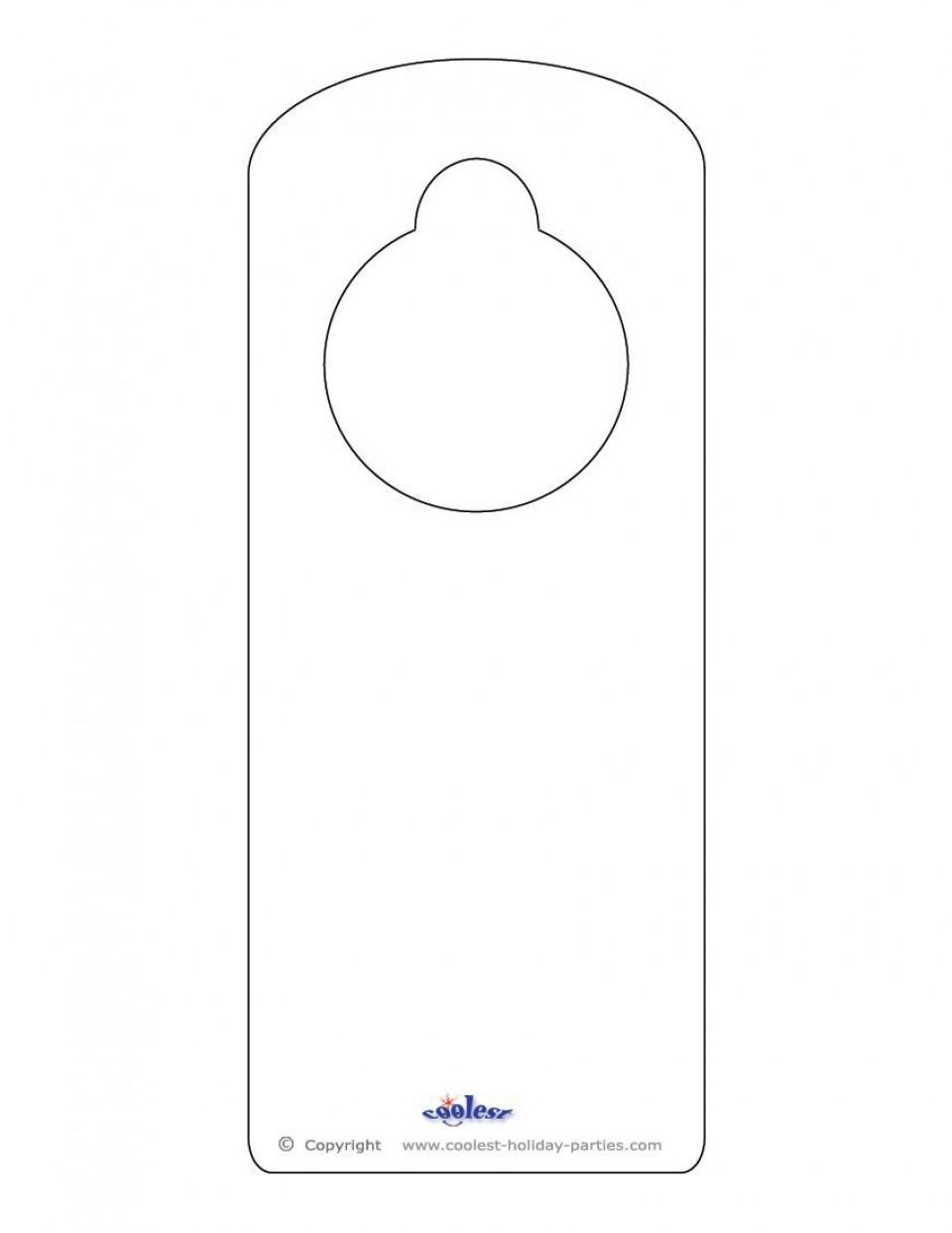 008 Sensational Free Download Door Hanger Template Picture 960