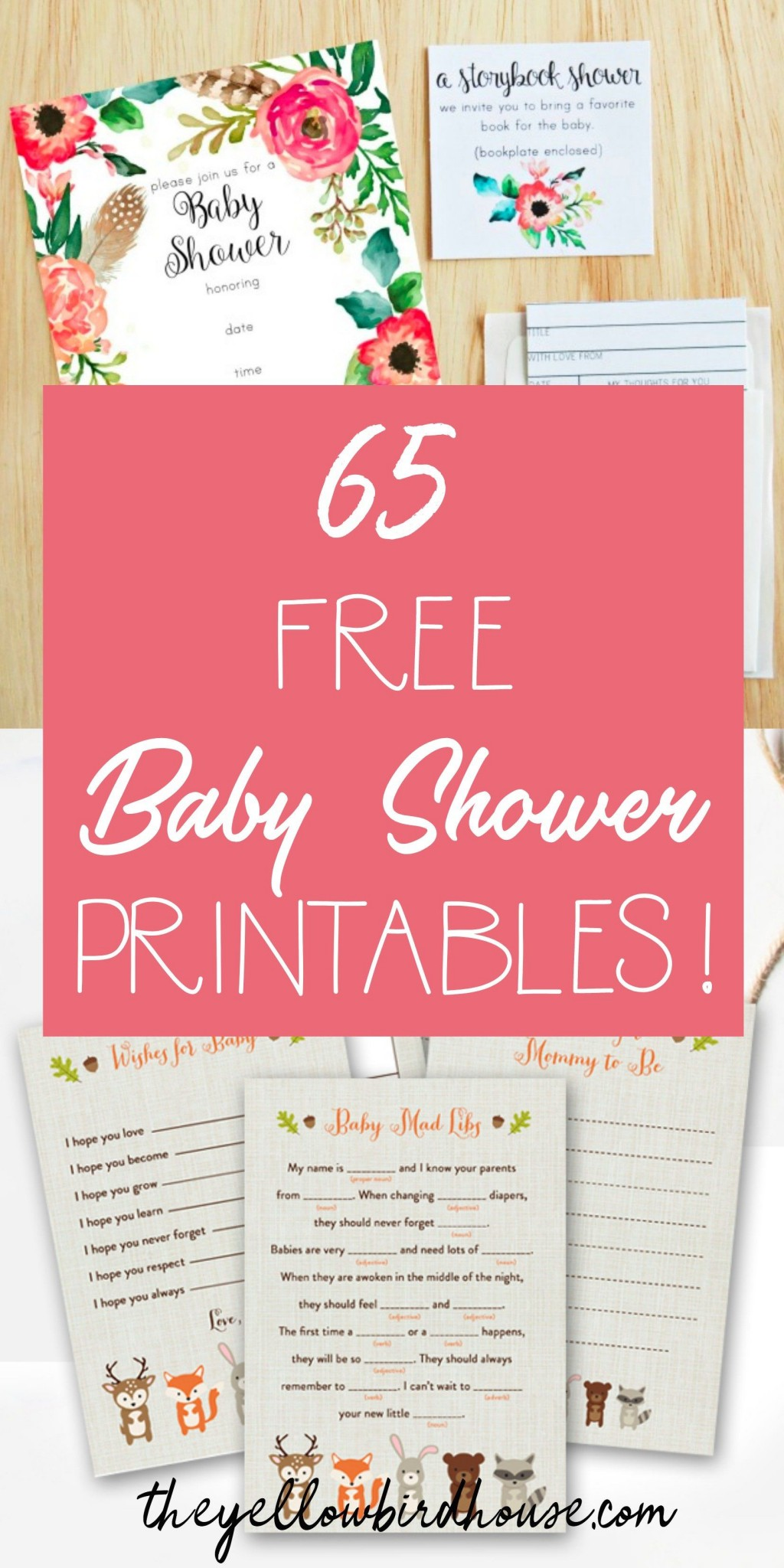 008 Sensational Free Girl Elephant Baby Shower Printable Concept  PrintablesLarge