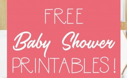 008 Sensational Free Girl Elephant Baby Shower Printable Concept  Printables