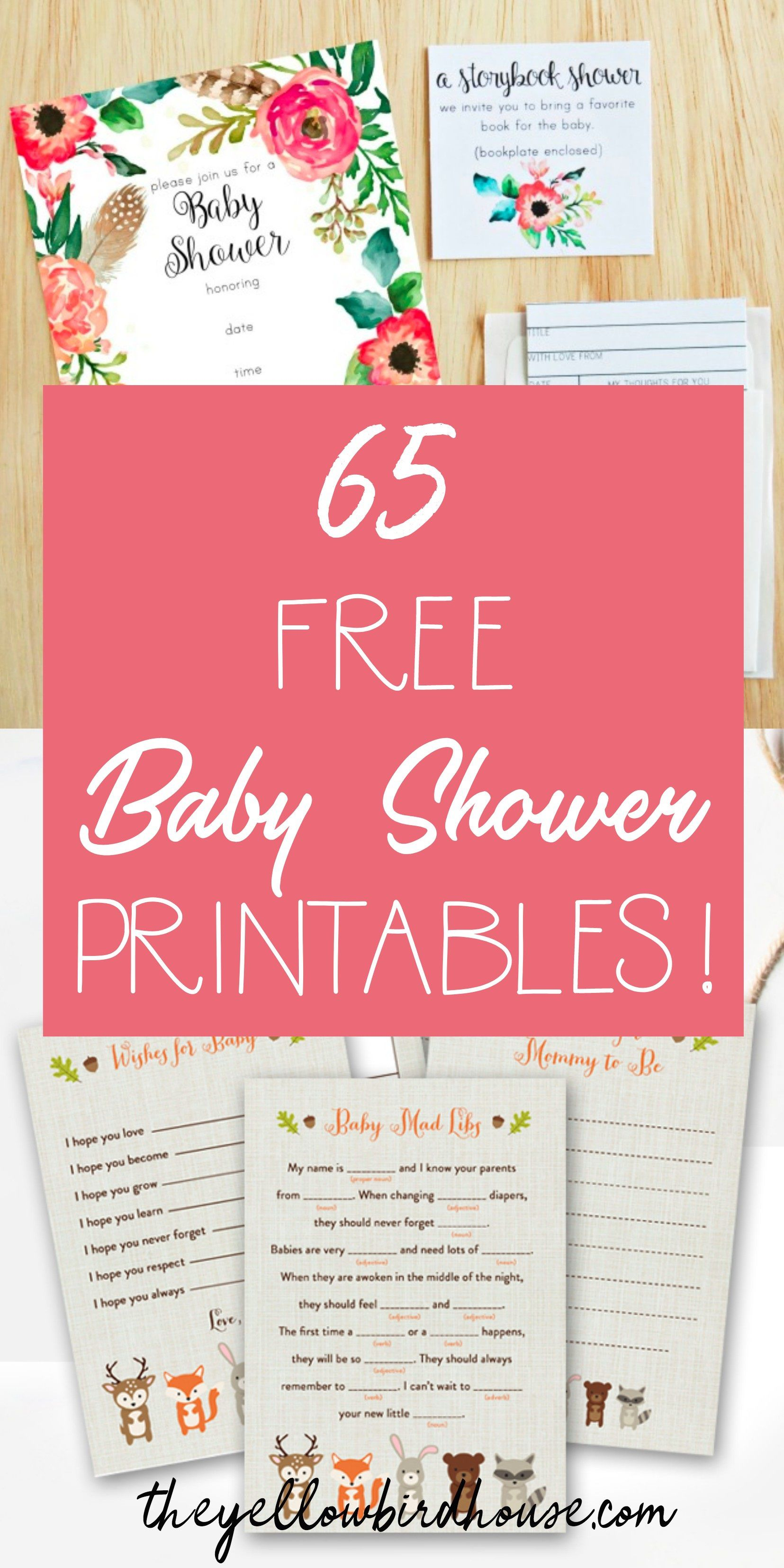 008 Sensational Free Girl Elephant Baby Shower Printable Concept  PrintablesFull