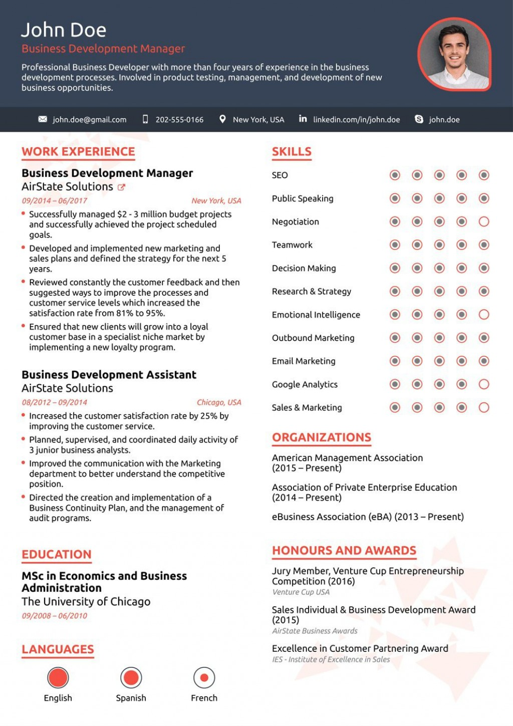 008 Sensational Free One Page Resume Template Concept  Word Download 2018 BestLarge