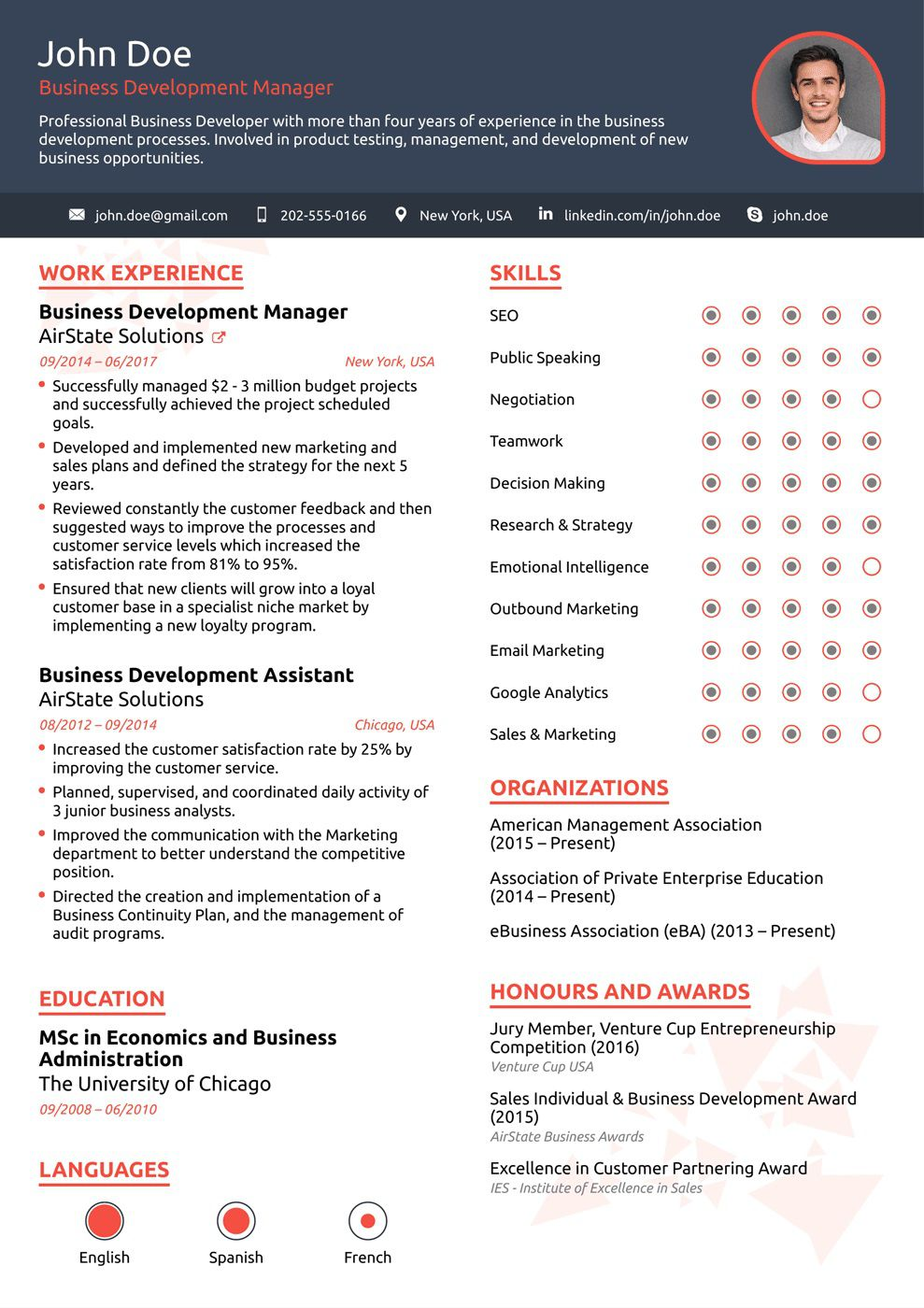 008 Sensational Free One Page Resume Template Concept  Word Download 2018 BestFull