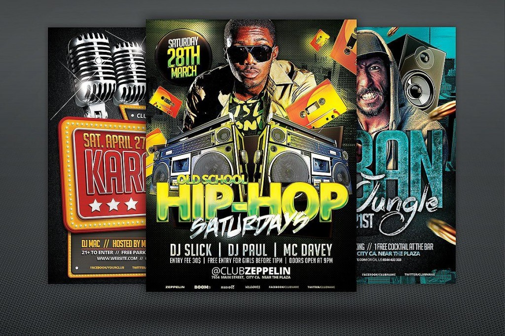 008 Sensational Free Party Flyer Template For Mac High Def Large