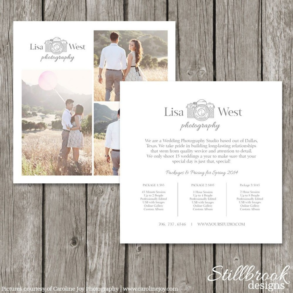 008 Sensational Free Photography Package Template Design  PricingLarge