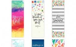 008 Sensational Free Printable Bookmark Template Inspiration  Templates Download Photo For Teacher
