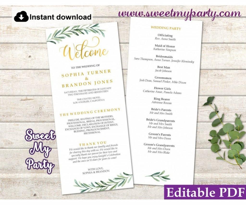 008 Sensational Free Wedding Order Of Service Template Word Design  MicrosoftLarge