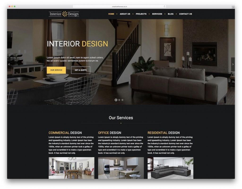 008 Sensational Interior Design Html Template Free Download Image Large
