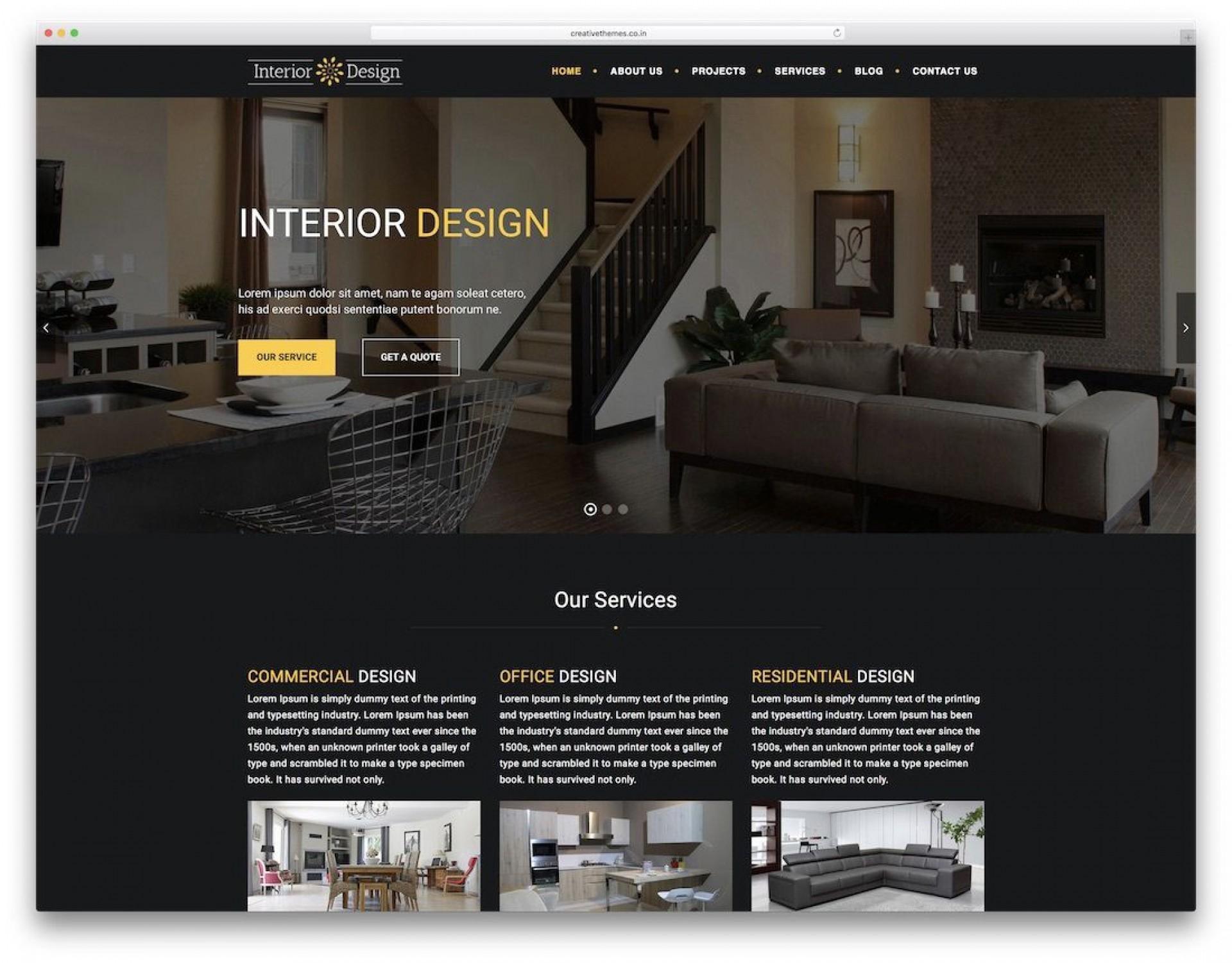 008 Sensational Interior Design Html Template Free Download Image 1920