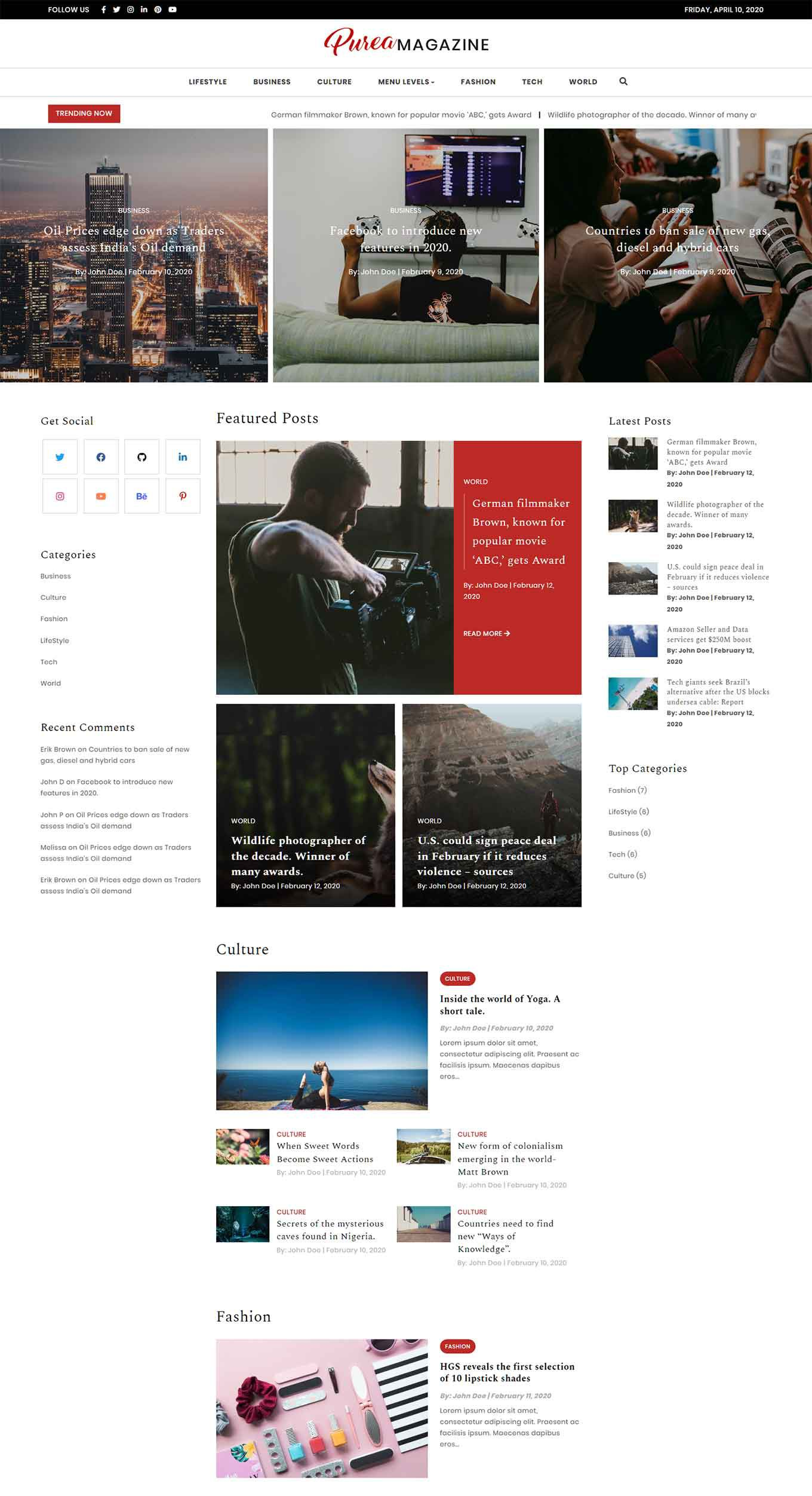 008 Sensational Iran Free One Page Psd Website Template Photo Full