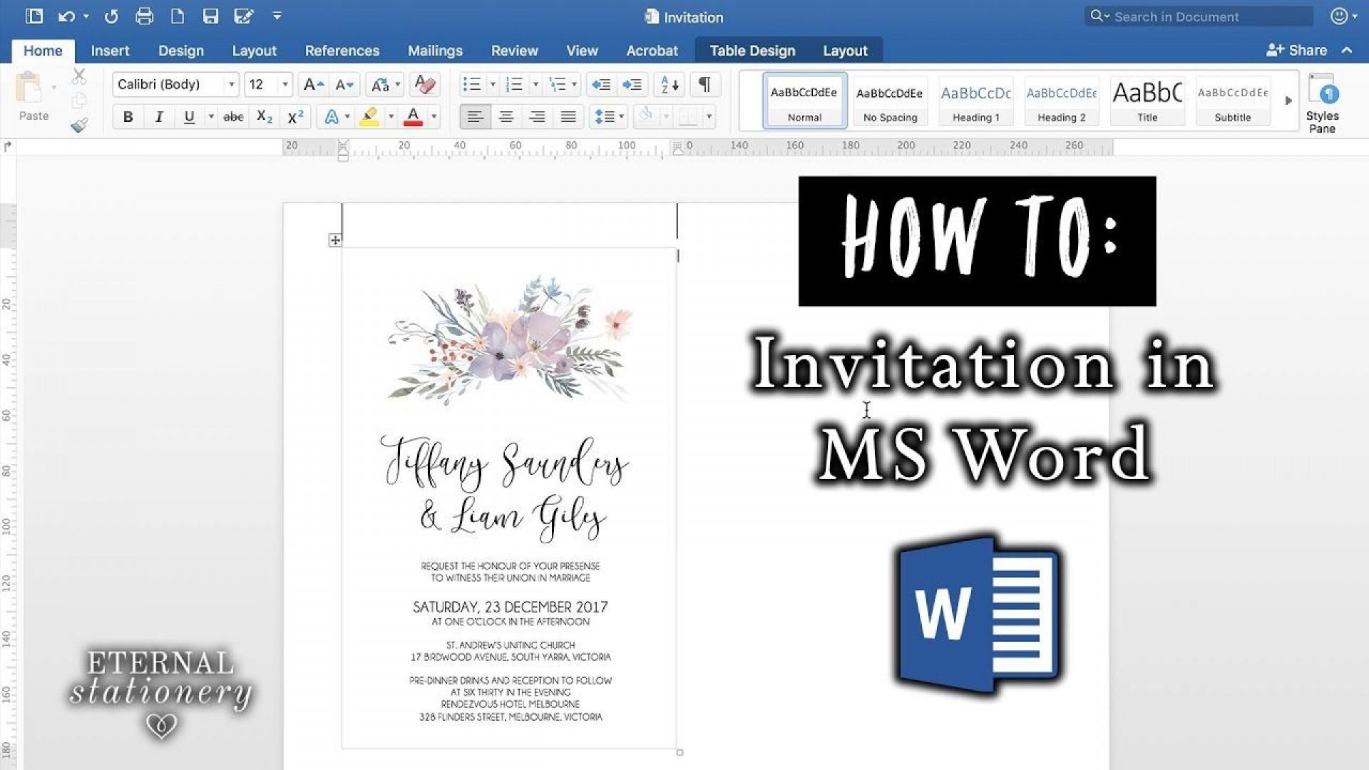008 Sensational Microsoft Office Invitation Maker Example 1920