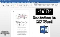 008 Sensational Microsoft Office Invitation Maker Example