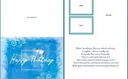 008 Sensational Microsoft Word Card Template Image  Birthday Half Fold Place Download Free