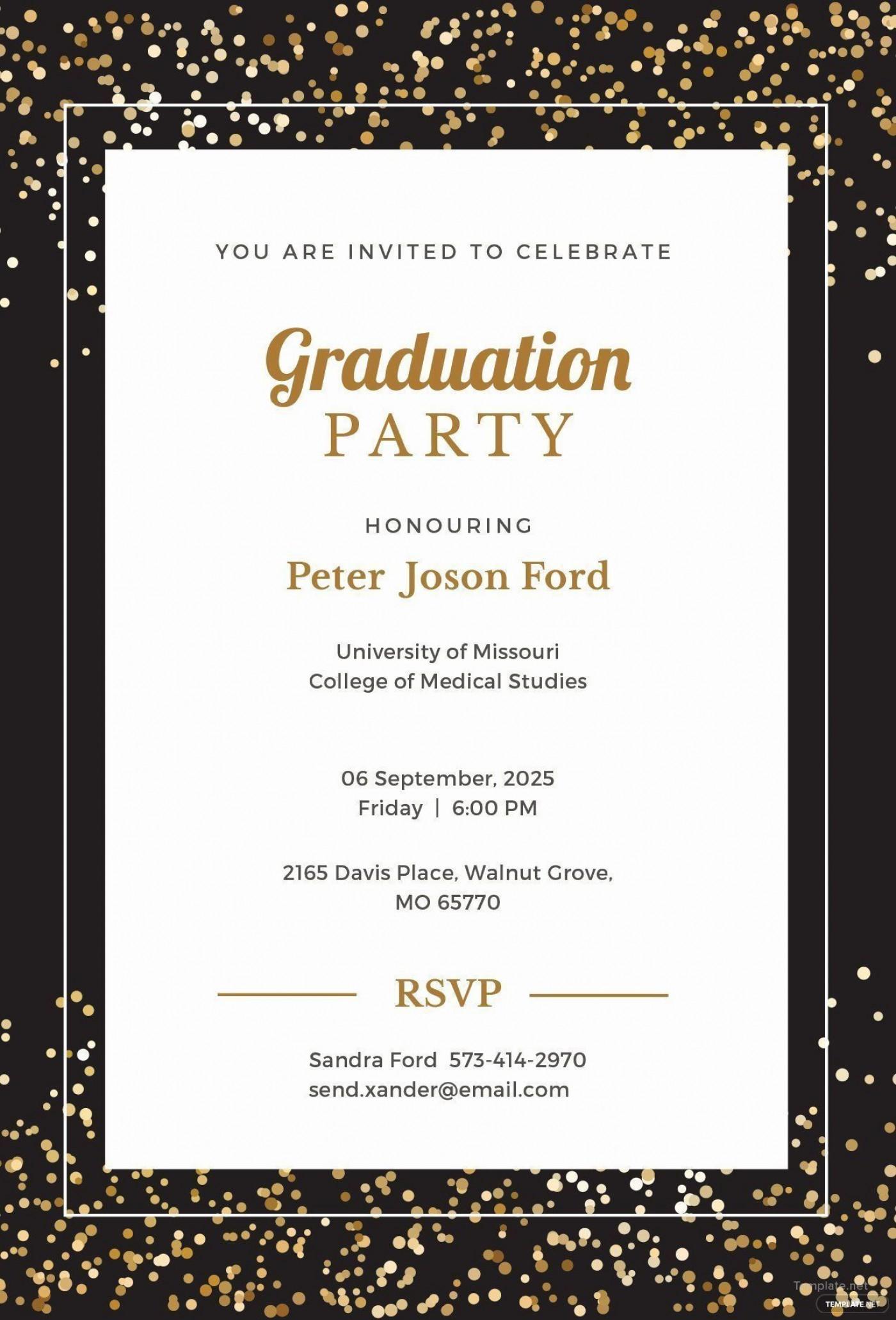 008 Sensational Microsoft Word Graduation Invitation Template Idea  Party1400