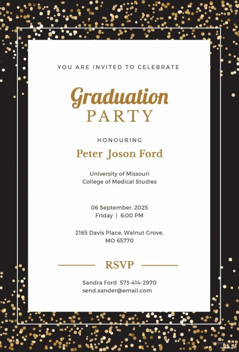 008 Sensational Microsoft Word Graduation Invitation Template Idea  Party480