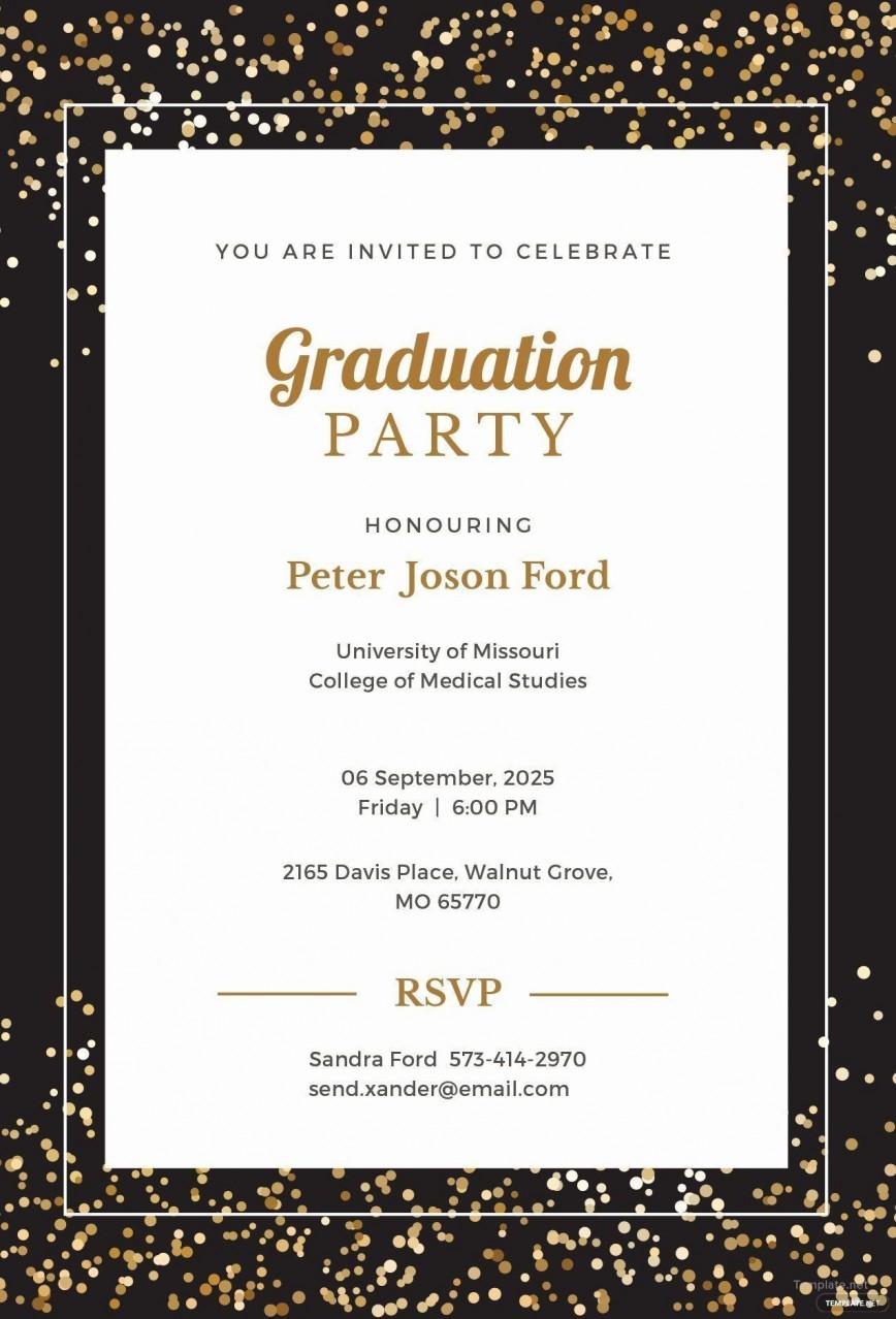 008 Sensational Microsoft Word Graduation Invitation Template Idea  Party868